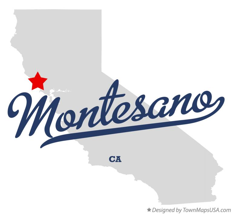 Map of Montesano California CA