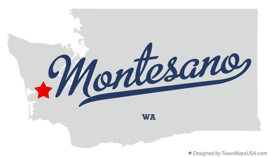 Map of Montesano Washington WA