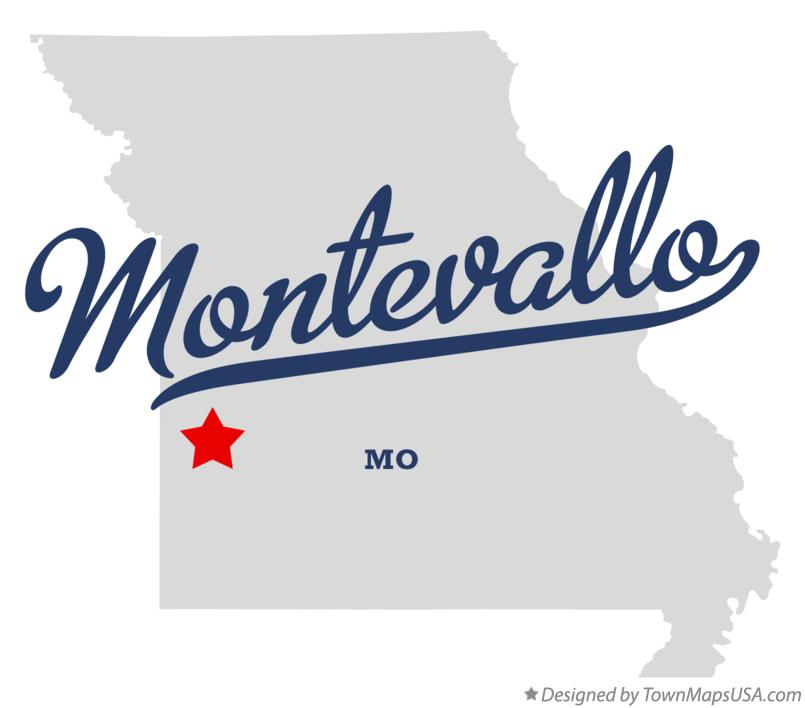 Map of Montevallo Missouri MO