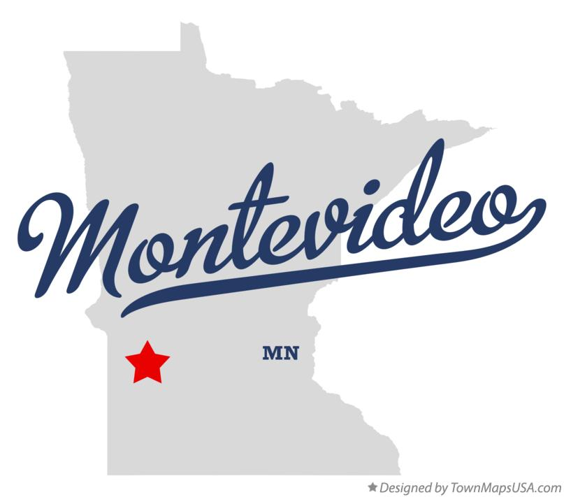 Map of Montevideo Minnesota MN