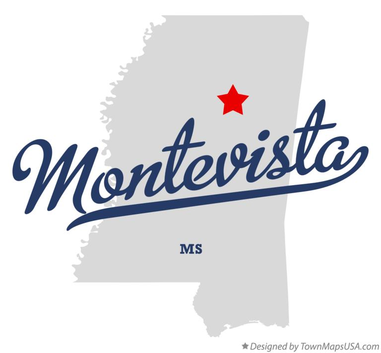 Map of Montevista Mississippi MS
