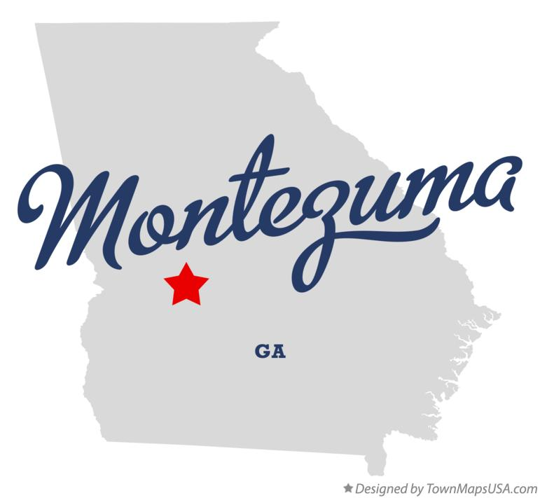 Map of Montezuma Georgia GA