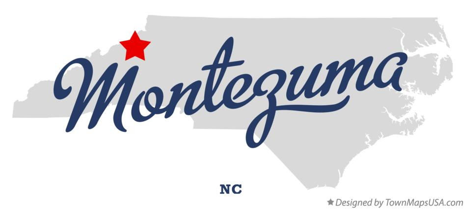 Map of Montezuma North Carolina NC