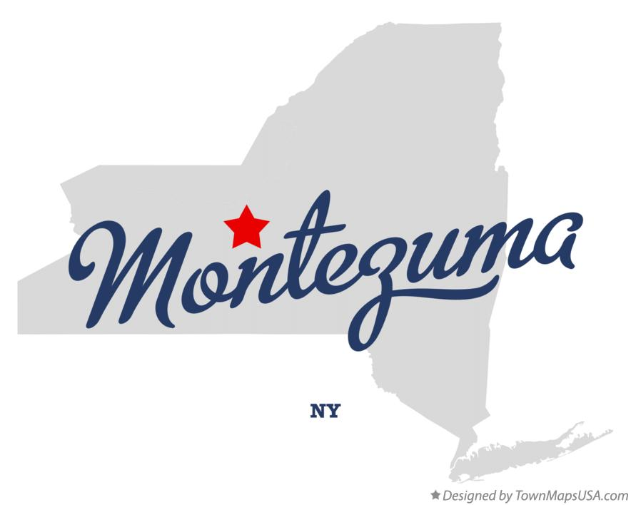 Map of Montezuma New York NY
