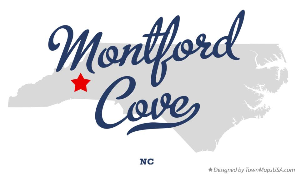 Map of Montford Cove North Carolina NC