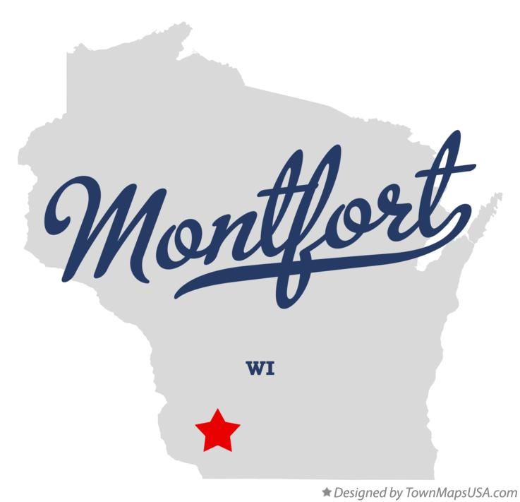 Map of Montfort Wisconsin WI