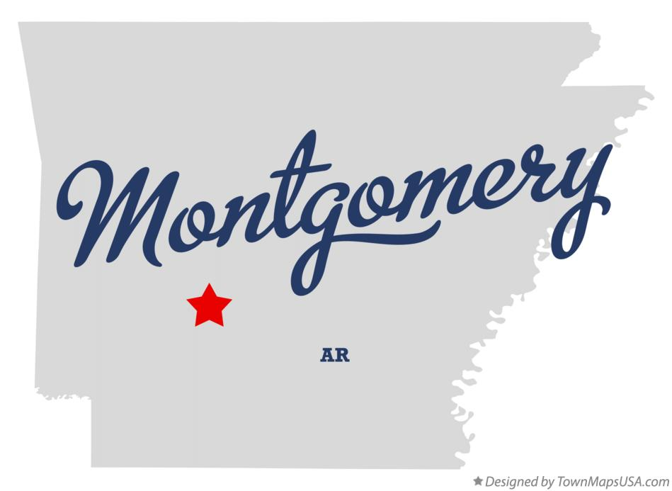 Map of Montgomery Arkansas AR