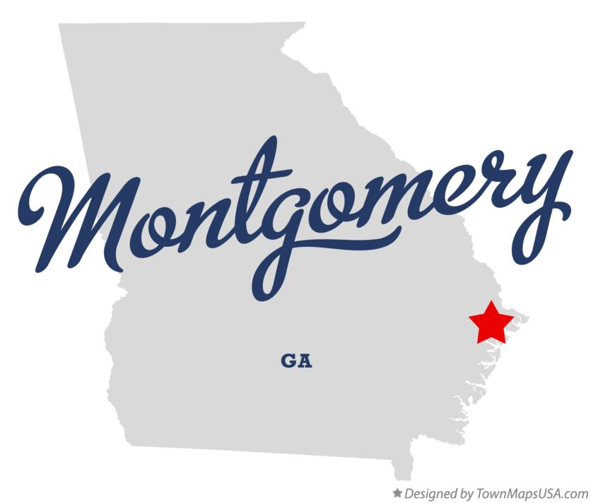 Map of Montgomery Georgia GA