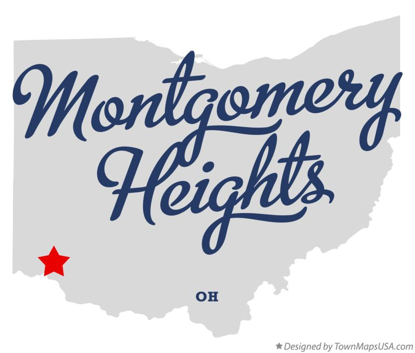 Map of Montgomery Heights Ohio OH