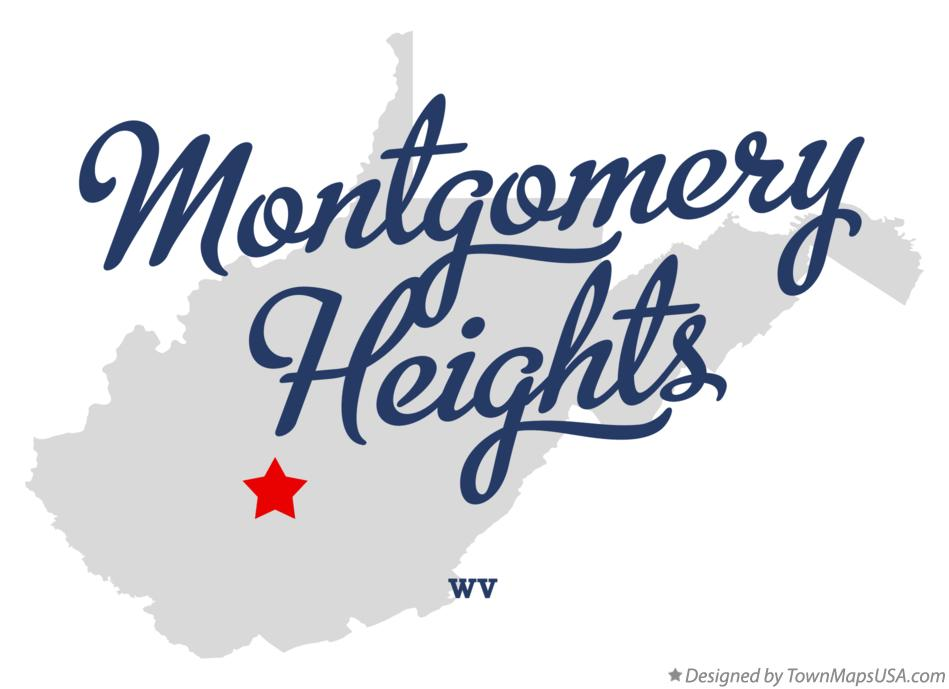 Map of Montgomery Heights West Virginia WV