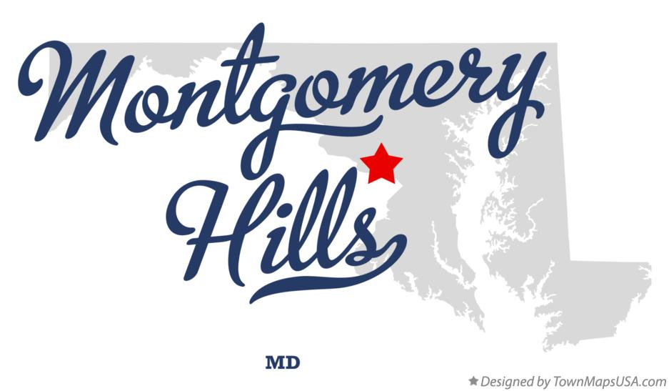Map of Montgomery Hills Maryland MD