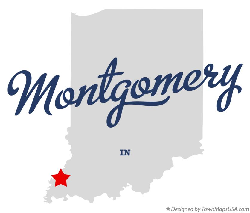 Map of Montgomery Indiana IN