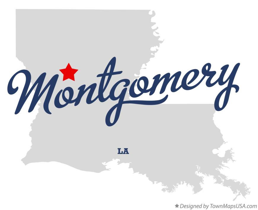 Map of Montgomery Louisiana LA