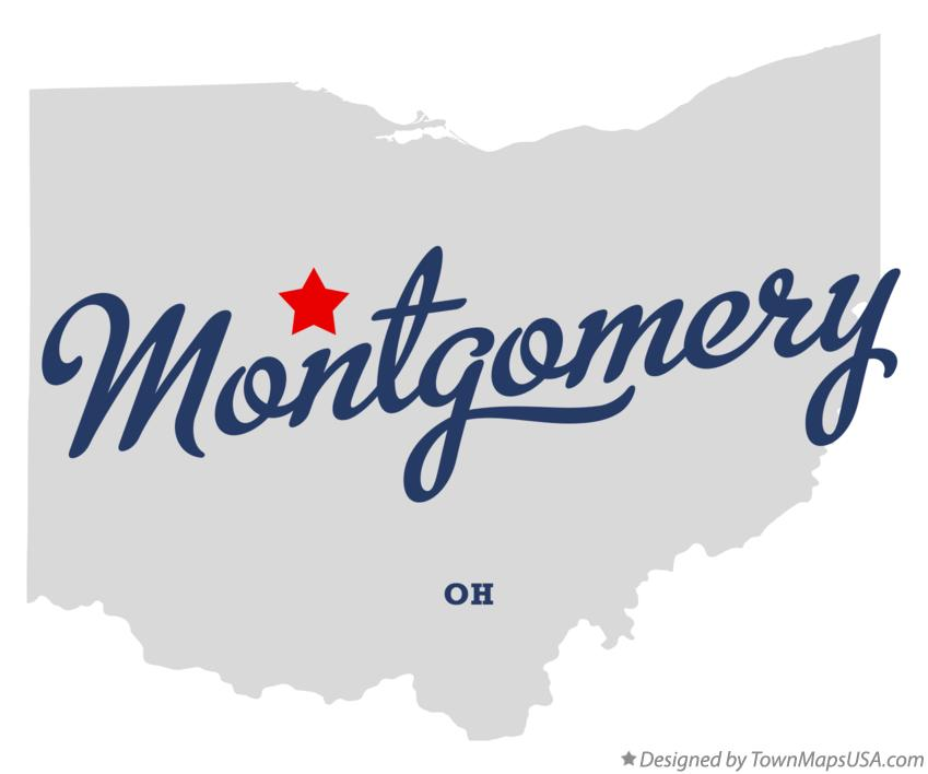 Map of Montgomery Ohio OH