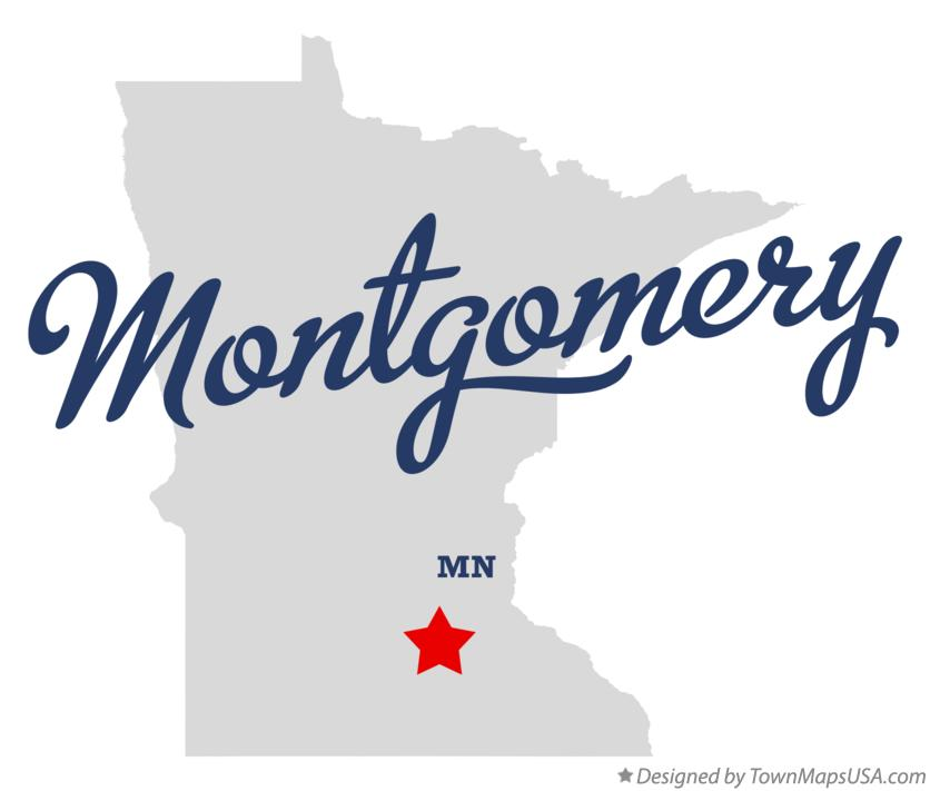 Map of Montgomery Minnesota MN