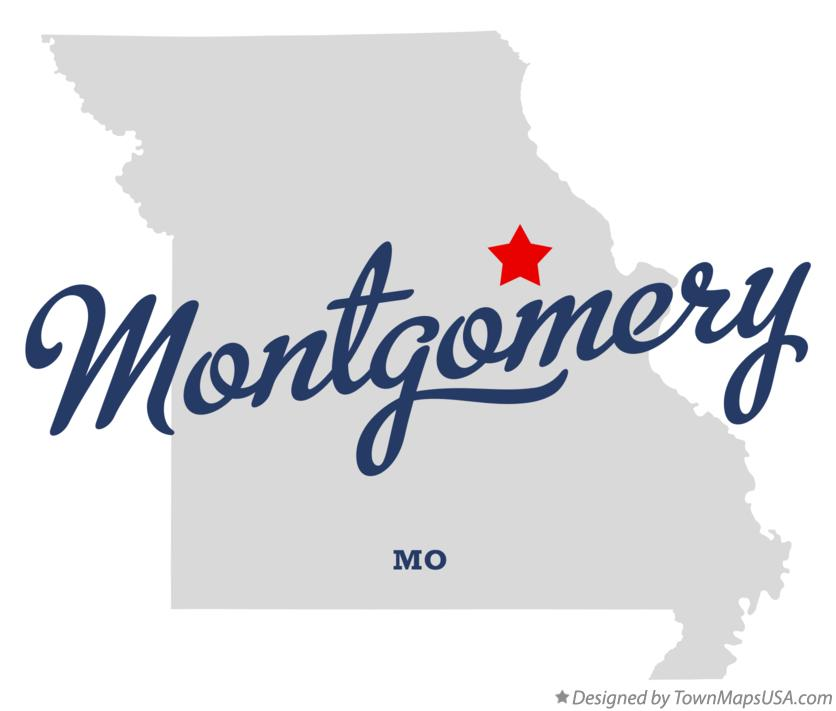 Map of Montgomery Missouri MO
