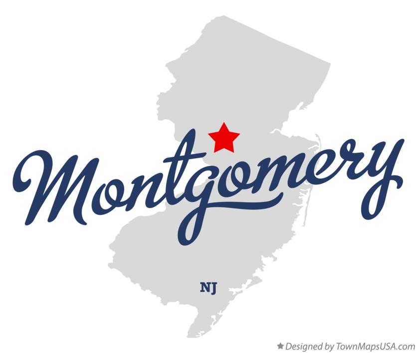 Map of Montgomery New Jersey NJ