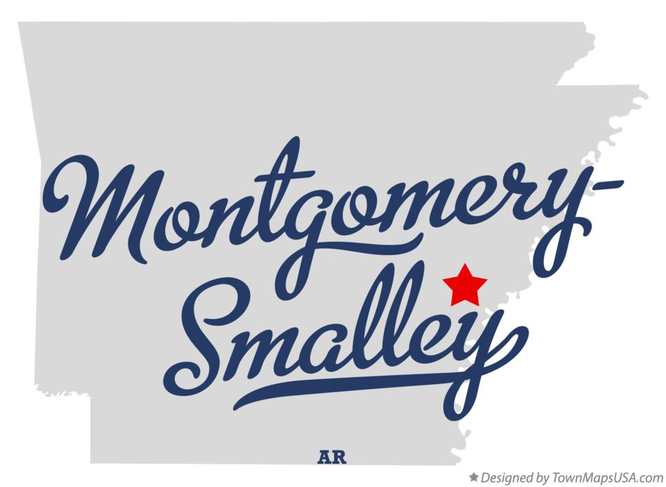 Map of Montgomery-Smalley Arkansas AR