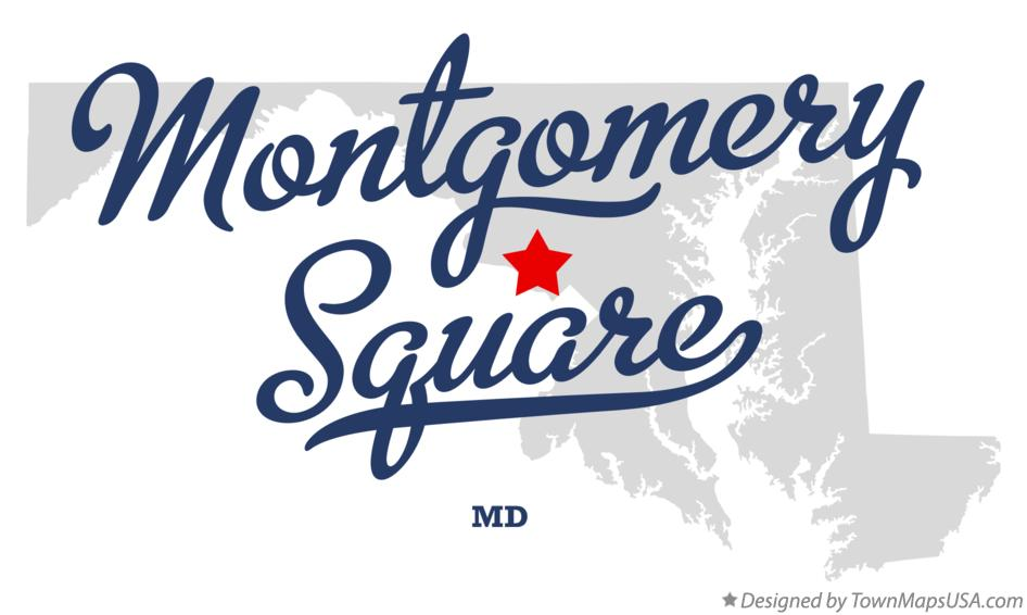 Map of Montgomery Square Maryland MD