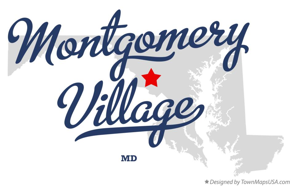 Map of Montgomery Village Maryland MD