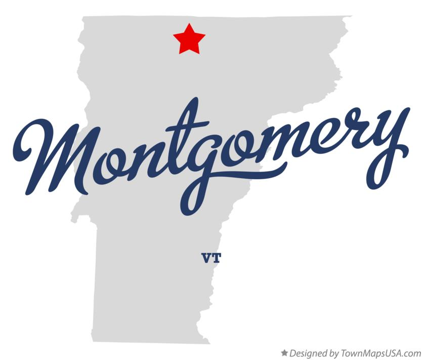 Map of Montgomery Vermont VT