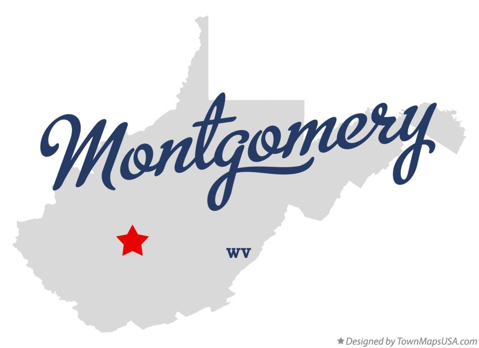 Map of Montgomery West Virginia WV