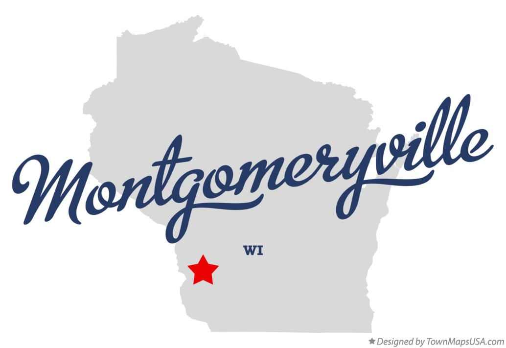 Map of Montgomeryville Wisconsin WI
