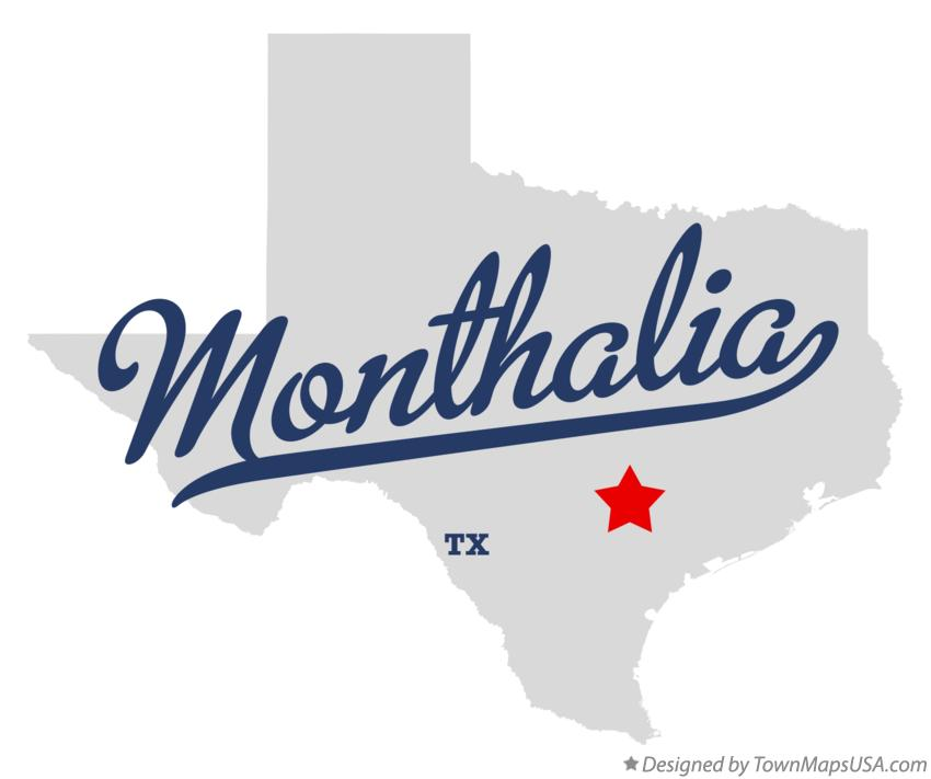 Map of Monthalia Texas TX