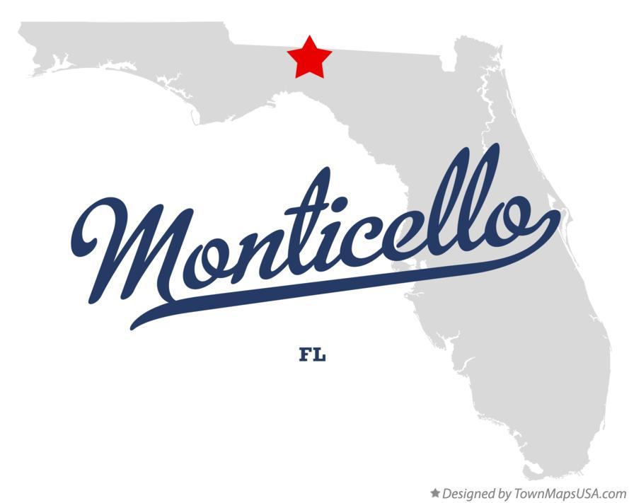 Map Of Monticello Fl Florida