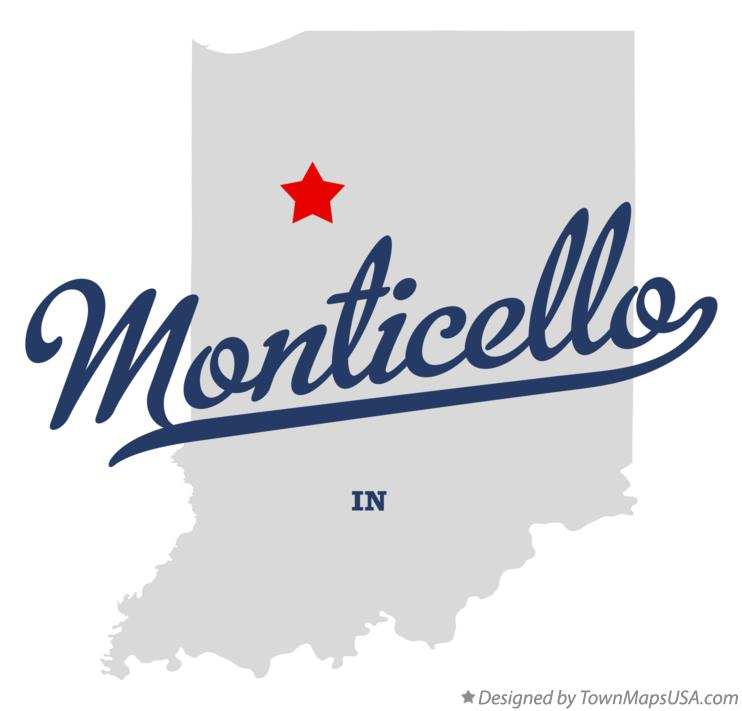Map of Monticello Indiana IN