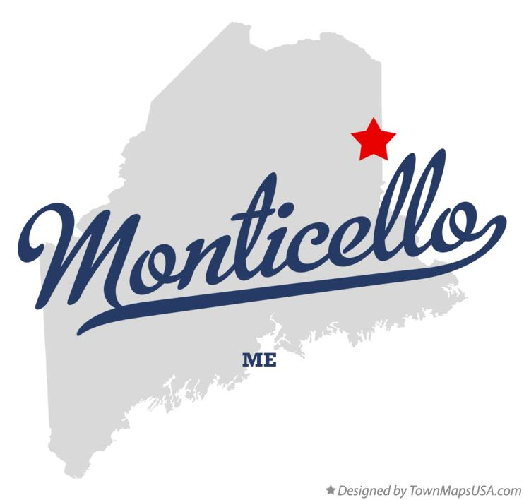 Map of Monticello Maine ME