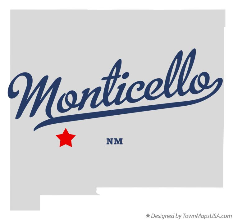 Map of Monticello New Mexico NM