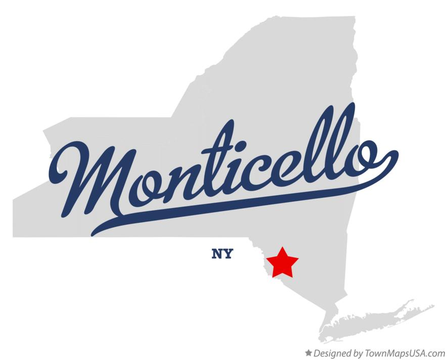 Map of Monticello New York NY