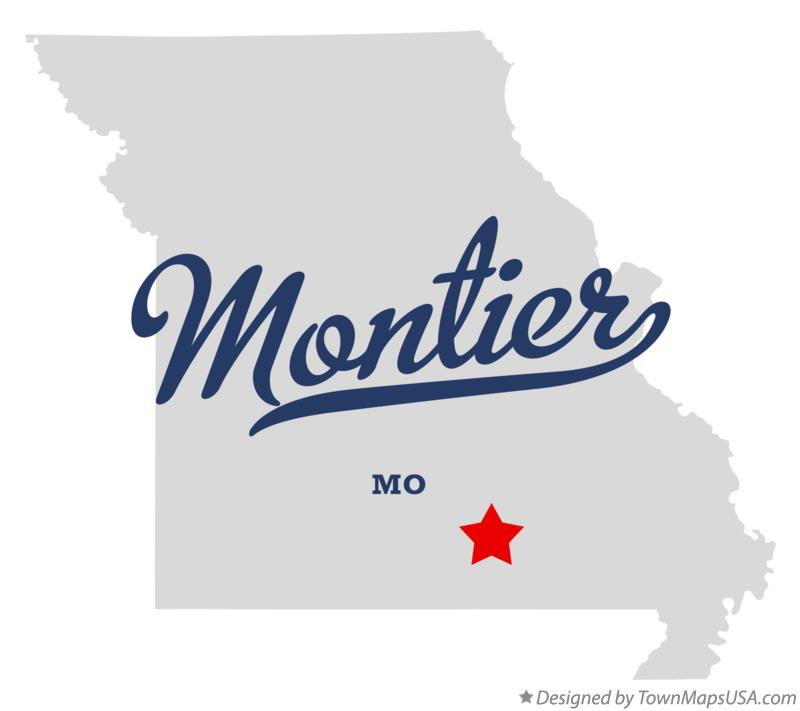 Map of Montier Missouri MO