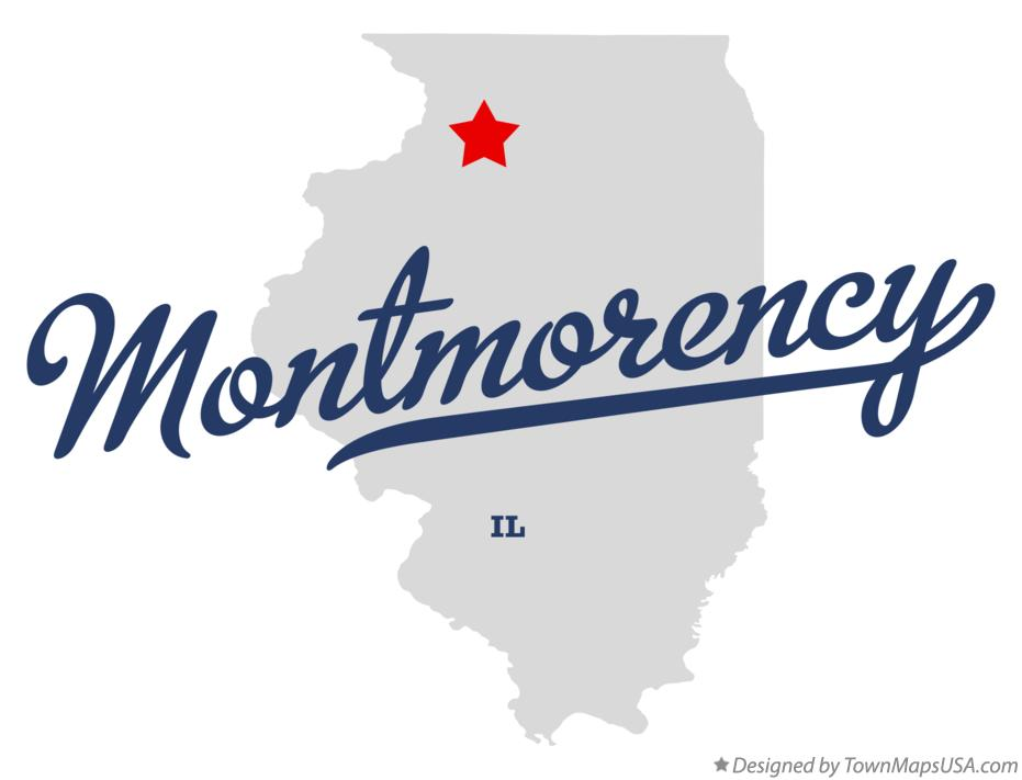 Map of Montmorency Illinois IL