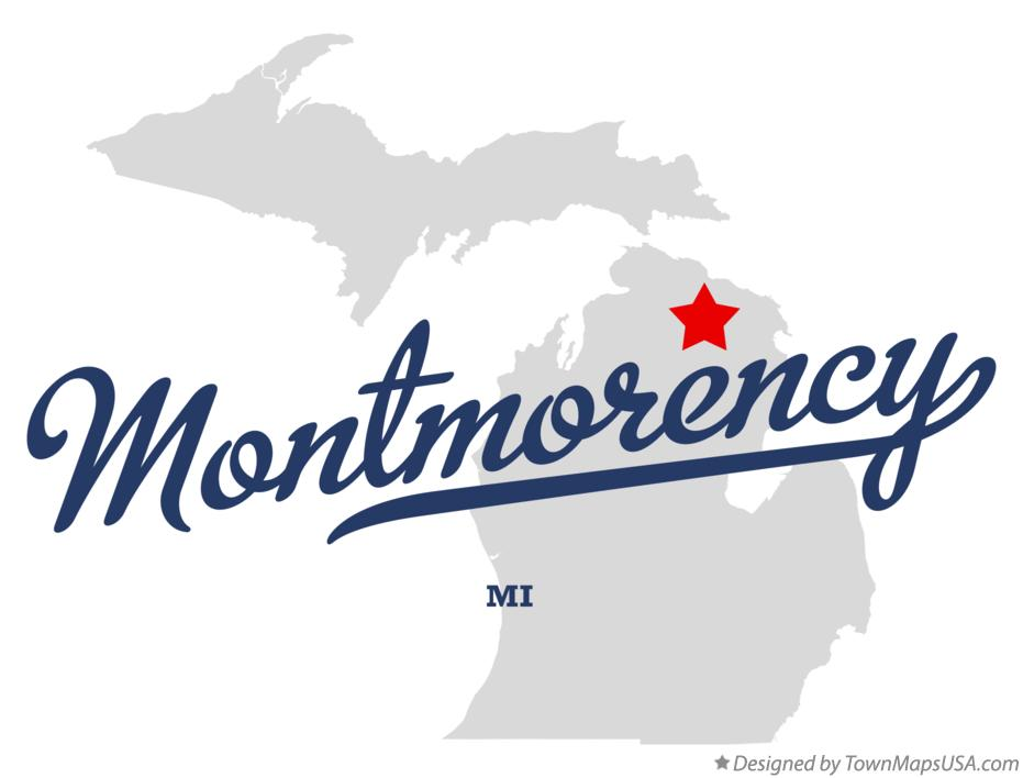 Map of Montmorency Michigan MI