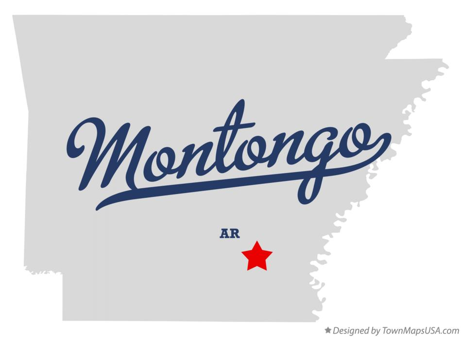 Map of Montongo Arkansas AR