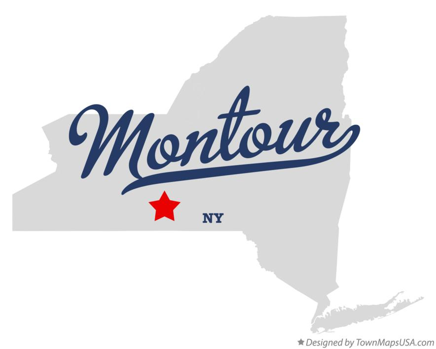 Map of Montour New York NY