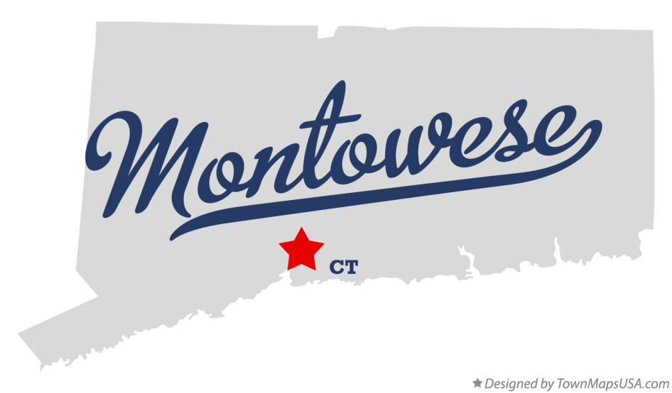 Map of Montowese Connecticut CT