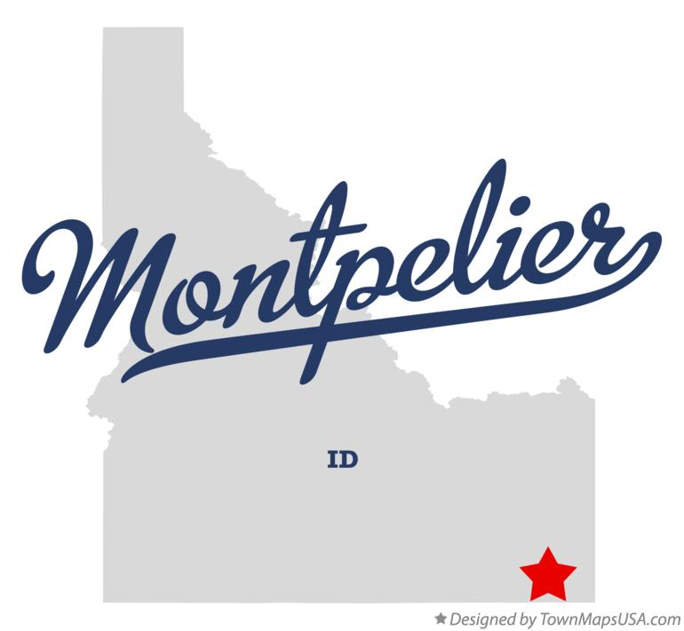 Map of Montpelier Idaho ID