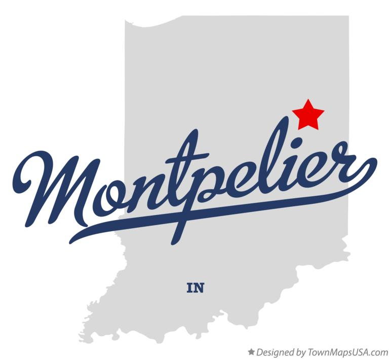Map of Montpelier Indiana IN