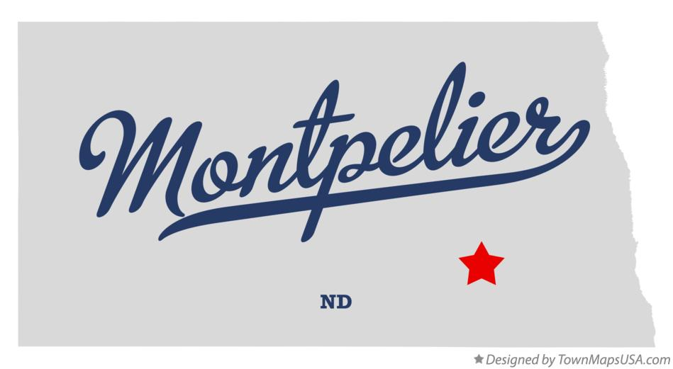Map of Montpelier North Dakota ND