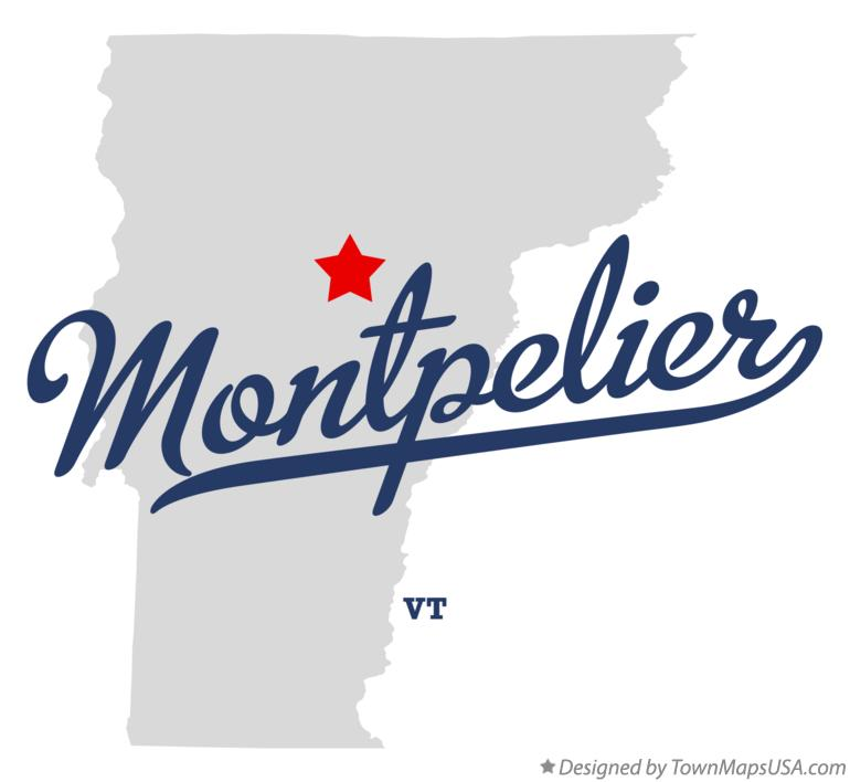 Map of Montpelier VT Vermont