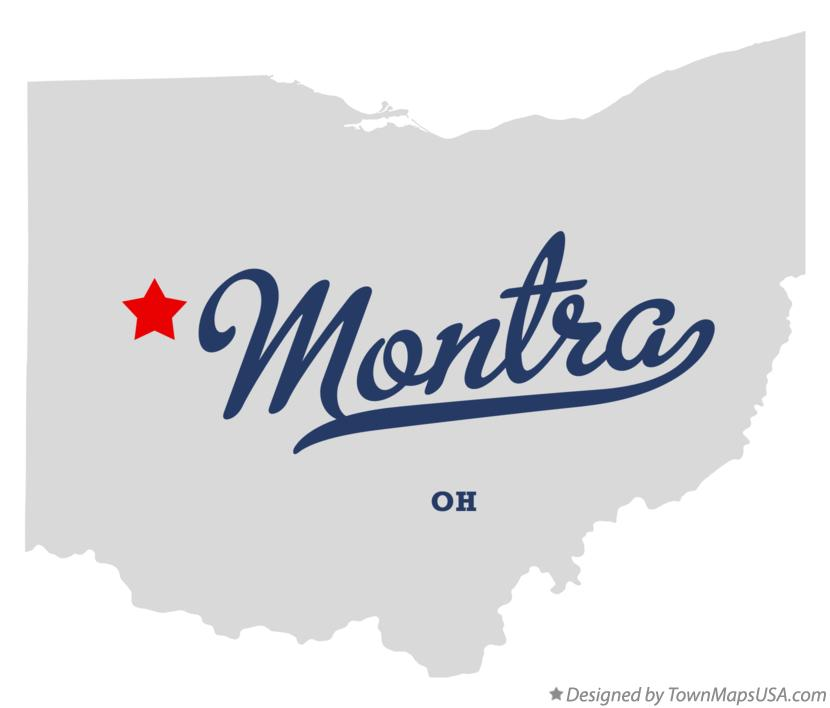 Map of Montra Ohio OH