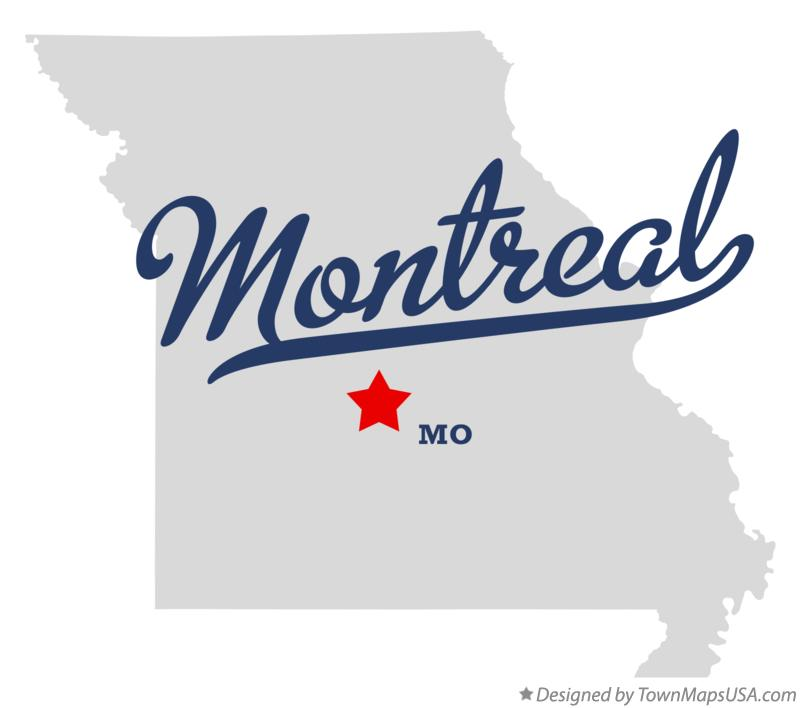 Map of Montreal Missouri MO