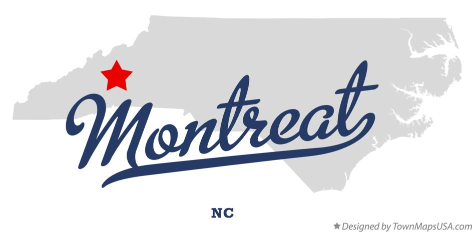 Map of Montreat North Carolina NC
