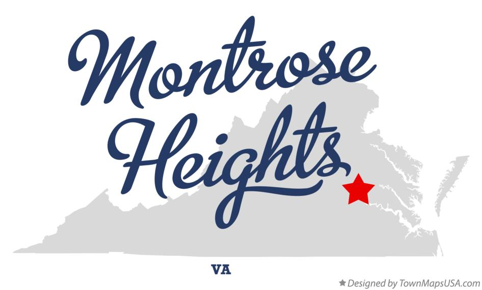 Map of Montrose Heights Virginia VA