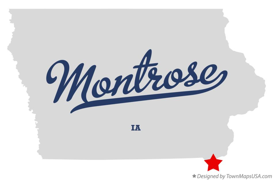 Map of Montrose Iowa IA