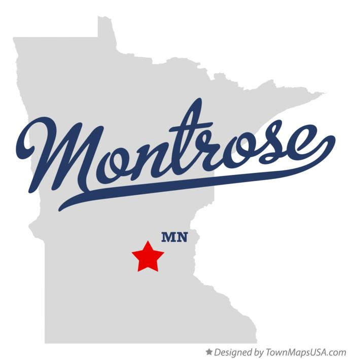 Map of Montrose Minnesota MN