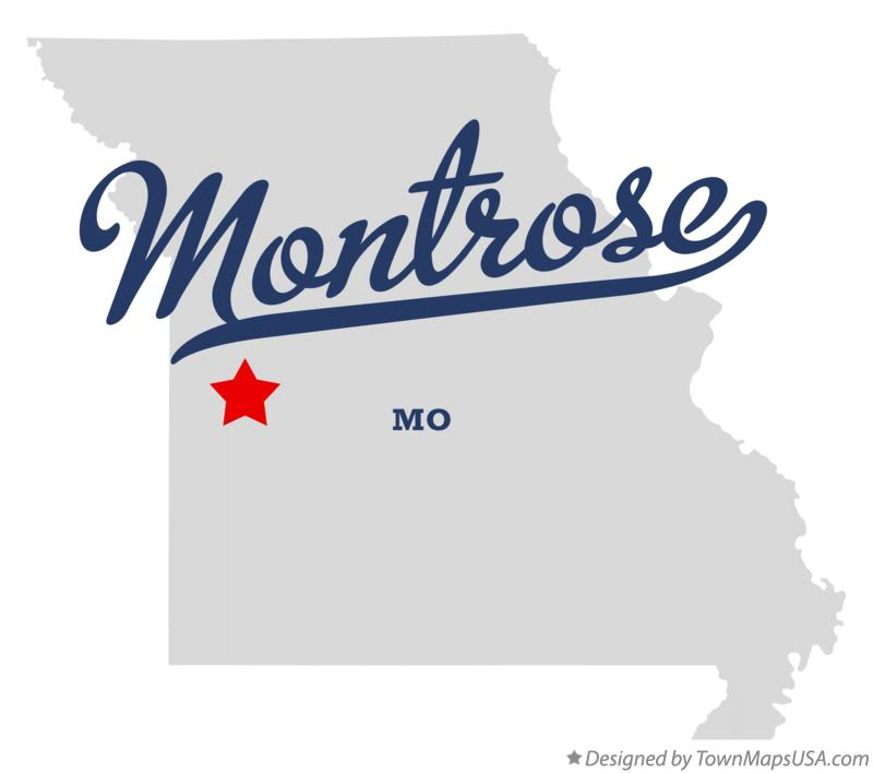Map of Montrose Missouri MO
